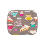 Tea party Dessert Print Cupcake Pie Doodle Jelly Belly Tins