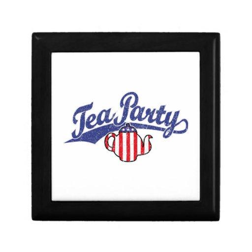 Tea Party Distressed  Logo Keepsake Boxes