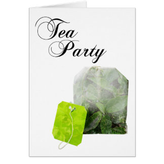 tea party double exposure card