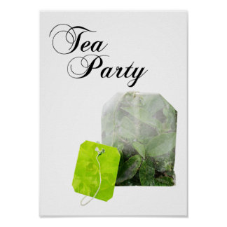tea party double exposure poster