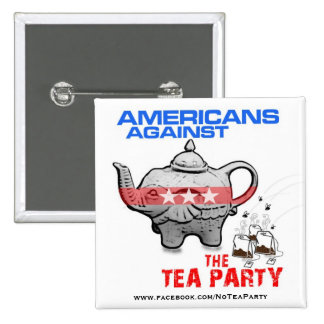 TEA PARTY ELEPHANT GETS BAGGED PINBACK BUTTONS