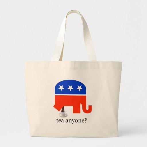 Tea Party Elephant Poop in Cup Tote Bag