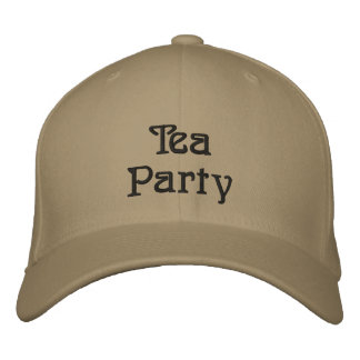 Tea Party Embroidered Baseball Caps