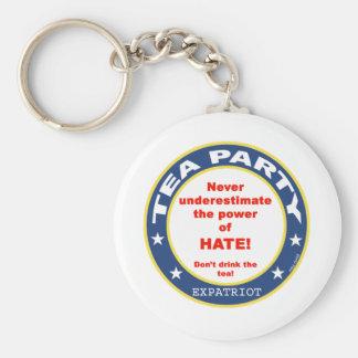 Tea Party ExPat Basic Round Button Keychain