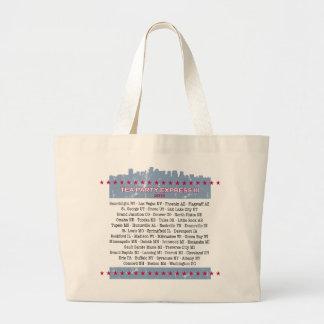 Tea Party Express City Tour Large Tote Bag