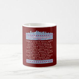 Tea Party Express City Tour Classic White Coffee Mug
