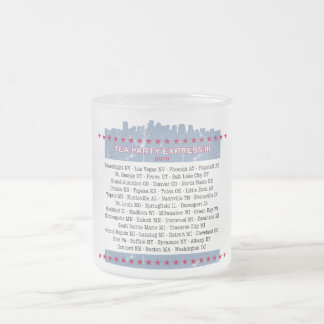 Tea Party Express City Tour 10 Oz Frosted Glass Coffee Mug