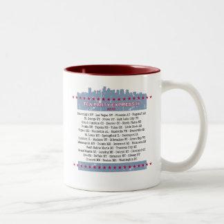 Tea Party Express City Tour Two-Tone Coffee Mug