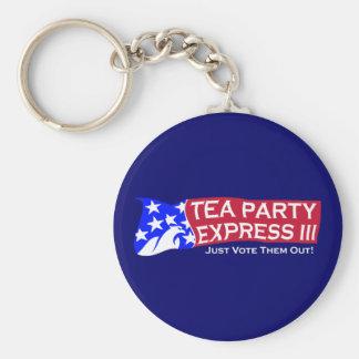 Tea Party Express III Basic Round Button Keychain