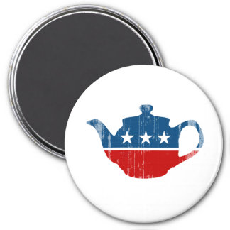 TEA PARTY - Faded png Magnets
