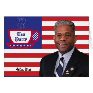 Tea Party Favorite Allen West Card