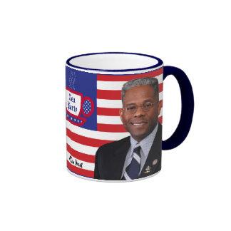 Tea Party Favorite Allen West Ringer Mug