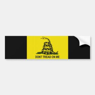 Tea Party Flag Car Bumper Sticker