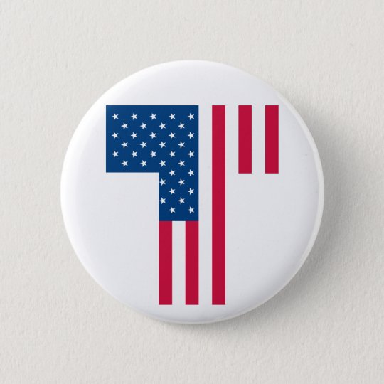 Tea Party Flag Button
