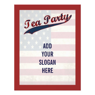 Tea Party  Flag Customizable Political Flyer