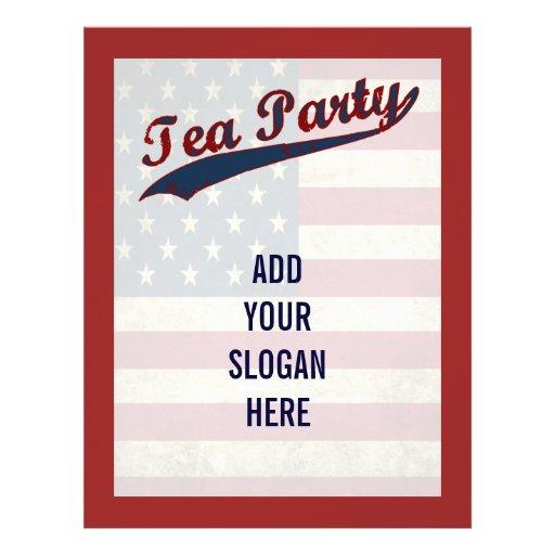 Tea Party  Flag Customizable Political Flyer