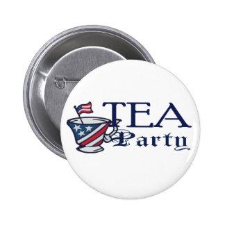 Tea Party Flag Political Button