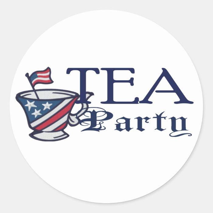 Tea Party Flag Political Parody Classic Round Sticker