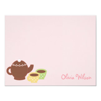 Tea Party Flat Thank You Card/Note Card