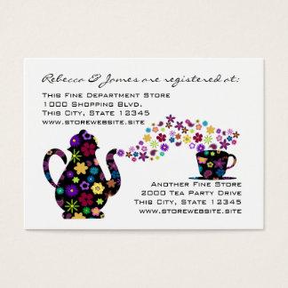 Tea Party Floral Bridal Shower Registry Business Card