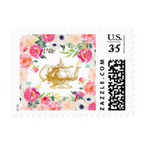 Tea Party Flower Stamp