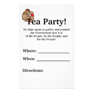Tea Party! Flyer