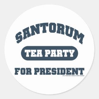 Tea Party for Santorum Classic Round Sticker
