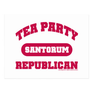 Tea Party for Santorum Postcard
