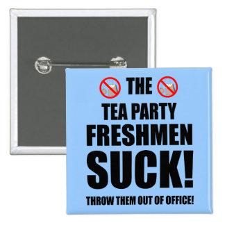 tea party freshmen 2 inch square button