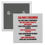tea party freshmen pinback button