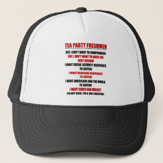tea party freshmen trucker hat