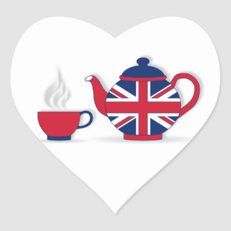 Tea Party Heart Sticker