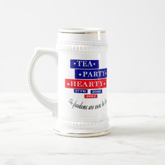 TEA PARTY HEARTY BEER STEIN