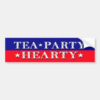 TEA PARTY HEARTY BUMPER STICKER