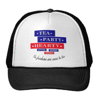 TEA PARTY HEARTY TRUCKER HAT