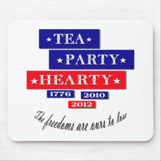 TEA PARTY HEARTY MOUSE PAD
