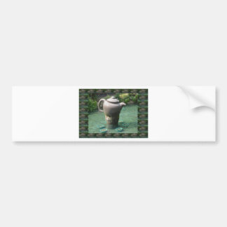 Tea Party Invitation:  Chinese Tea Park Car Bumper Sticker