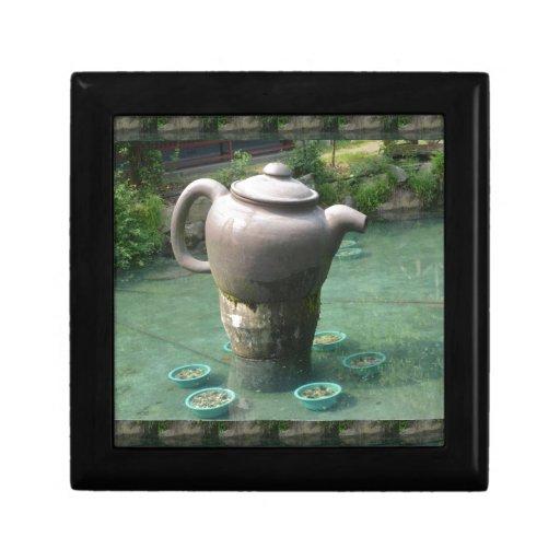 Tea Party Invitation:  Chinese Tea Park Jewelry Box