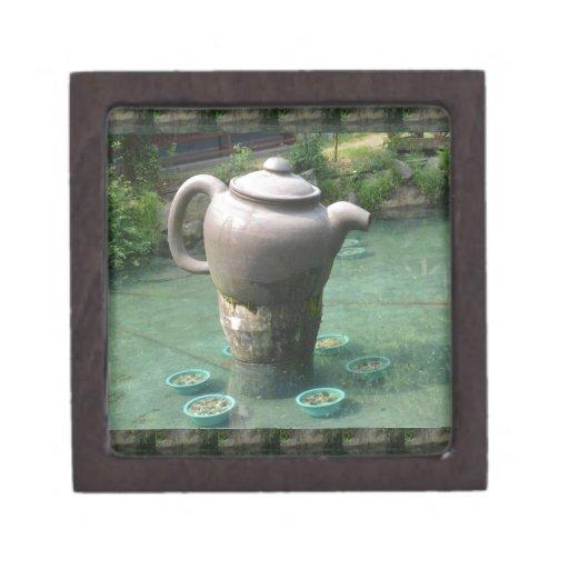 Tea Party Invitation:  Chinese Tea Park Premium Trinket Box