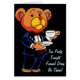 Tea Party Invite - Note Card