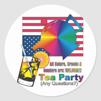Tea Party is for ALL Americans! Classic Round Sticker