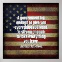 Tea Party - Jefferson: Beware of Big Government print