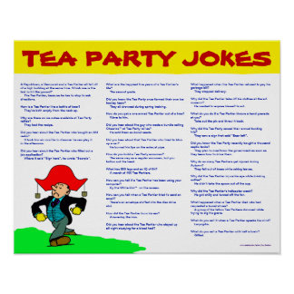 Tea Party Jokes Poster