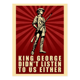 Tea Party - King George Didn t Listen Either Postcard