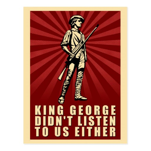 Tea Party - King George Didn't Listen Either Postcard