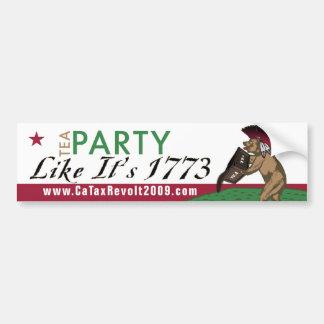 Tea Party Like It's 1773 Bumper Sticker Car Bumper Sticker