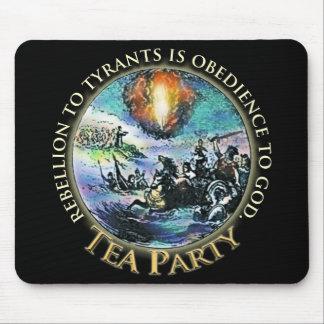 Tea Party Logo Rebellion Tyrants mousepads
