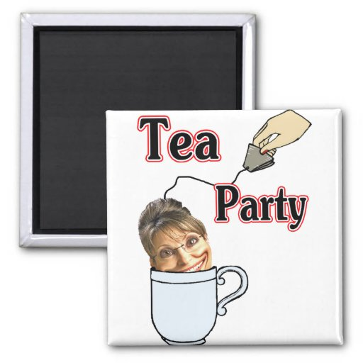 Tea Party Refrigerator Magnet