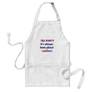 Tea Party Manners Adult Apron