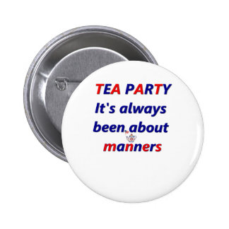 Tea Party Manners Pins